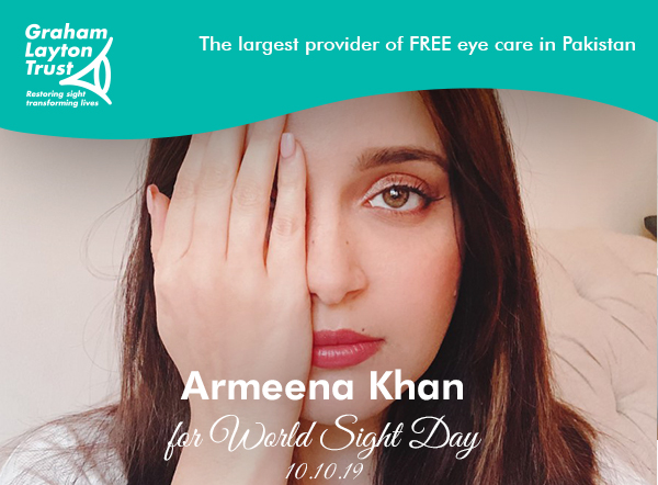 Armeena Khan for World Sight Day